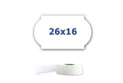 Cenové címkék do kleští, 26mm x 16mm, 700 db, fehér