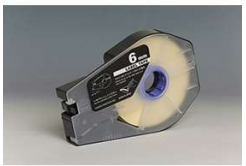 Canon M-1 Std/M-1 Pro / Partex, 6mm x 30m, kazetta, fehér, kompatibilis öntapadó papírszalag