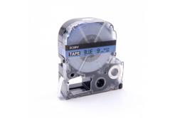Epson LC-SC9BW, 9mm x 8m, fekete nyomtatás / kék alapon, utángyártott szalag