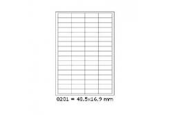 Öntapadós címkék 48,5 x 16,9 mm, 68 db / A4, 100 lap