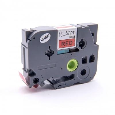 Brother TZe-V441, 18mm x 5,5m, fekete nyomtatás / piros alapon, vinyl, kompatibilis szalag