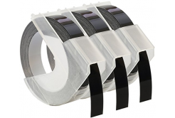 Dymo S0847730, 9mm x 3 m, fehér nyomtatás / fekete alapon, 3 db, kompatibilis szalag