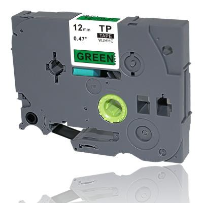 Brother TZe-V731, 12mm x 5,5m, fekete nyomtatás / zöld alapon, vinyl, kompatibilis szalag