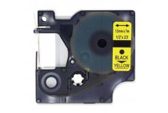 Dymo 45018, S0720580, 12mm x 7m, fekete nyomtatás / sárga alapon, kompatibilis szalag