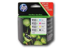 HP 932XL, č.933XL C2P42AE cián/bíborvörös/sárga/fekete (cyan/magneta/yellow/black) eredeti tintapatron