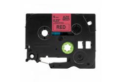Brother TZ-S411 / TZe-S411, 6mm x 8m, extr.adh. fekete nyomtatás / piros alapon, kompatibilis szalag