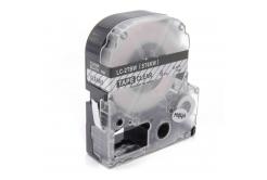 Epson LK-ST6KW, 6mm x 9m, fekete nyomtatás / átlátszó alapon, kompatibilis szalag