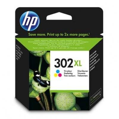 HP 302XL F6U67AE színes eredeti tintapatron