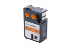 Dymo 1868767, 19mm x 7m, fekete nyomtatás / narancssárga alapon, kompatibilis szalag