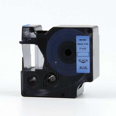 Dymo 53716, S0720960, 24mm x 7m, fekete nyomtatás / kék alapon, kompatibilis szalag