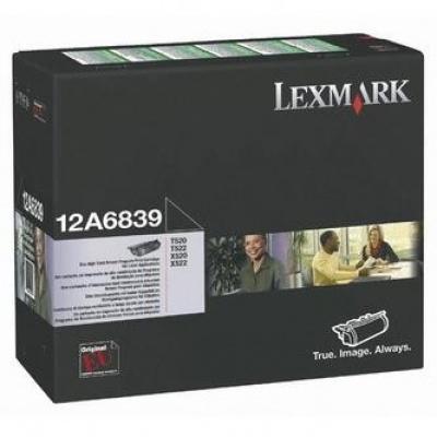 Lexmark 12A6839 fekete (black) eredeti toner