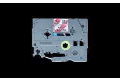 Brother TZ-MPRG31 / TZe-MPRG31, 12mm x 4m, fekete nyomtatás / fehér-piros alapon, eredeti szalag