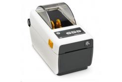 Zebra ZD410 ZD41H22-D0EW02EZ címkenyomtató, 8 dots/mm (203 dpi), MS, RTC, EPLII, ZPLII, USB, BT (BLE, 4.1), Wi-Fi, fehér