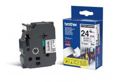 Brother TZ-S251 / TZe-S251, 24mm x 8m, fekete nyomtatás / fehér alapon, eredeti szalag