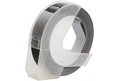 Dymo S0898130, 9mm x 3m, fehér nyomtatás / fekete alapon, kompatibilis szalag