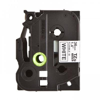 Brother TZ-FX261/TZe-FX261, 36mm x 8m, flexi, fekete nyomtatás / fehér alapon, kompatibilis szalag