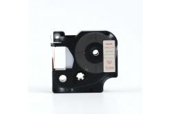 Dymo 45012, S0720520, 12mm x 7m piros nyomtatás / átlátszó alapon, kompatibilis szalag