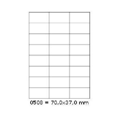 Öntapadós címkék 70 x 37 mm, 24 db / A4, 100 lap