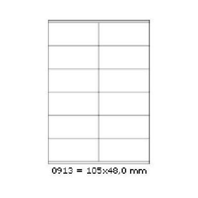 Öntapadós címkék 105 x 48 mm, 12 db / A4, 100 lap