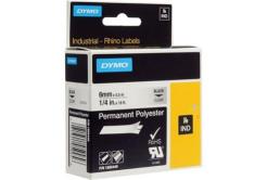 Dymo Rhino 1805440, 6mm x 5,5m, fekete nyomtatás / átlátszó alapon, eredeti szalag