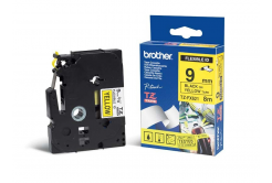 Brother TZ-FX621 / TZe-FX621, 9mm x 8m, fekete nyomtatás / sárga alapon, eredeti szalag