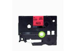 Brother TZe-V421, 9mm x 5,5m, fekete nyomtatás / piros alapon, vinyl, kompatibilis szalag