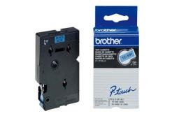 Brother TC-591, 9mm x 7,7m, fekete nyomtatás / kék alapon, eredeti szalag