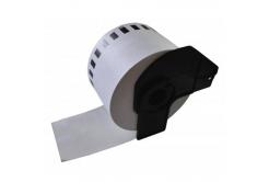 Brother DK-22205F, 62mm x 30,48m, film, fehér , kompatibilis címketekercs
