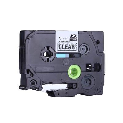 Brother TZ-S121/TZe-S121 9mm x 8m erősen ragadó, fekete nyomtatás/ átlátszó alapon, kompatibilis szalag