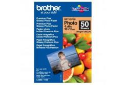 """Brother BP71GP50 Premium Glossy Photo Paper, fotópapírok, fényes, fehér, 10x15cm, 4x6"""", 260 g/m2, 50 db"""