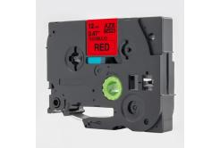 Brother TZ-S431 / TZe-S431, 12mm x 8m, extr.adh. fekete nyomtatás / piros alapon, kompatibilis szalag