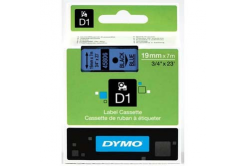 Dymo D1 45806, S0720860, 19mm x 7m, fekete nyomtatás / kék alapon, eredeti szalag