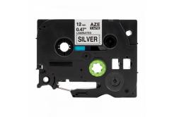 Brother TZ-931 / TZe-931, 12mm x 8m, fekete nyomtatás / ezüst alapon, kompatibilis szalag