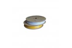 Feliratozható PVC cső H-25Z, csillag alakú, belső átmérő 4,0mm / keresztmetszet 2,5mm2, sárga, 80m