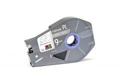 Partex PROMARK-PL090CN8, ezüst öntapadó szalag, 9mm, 27m