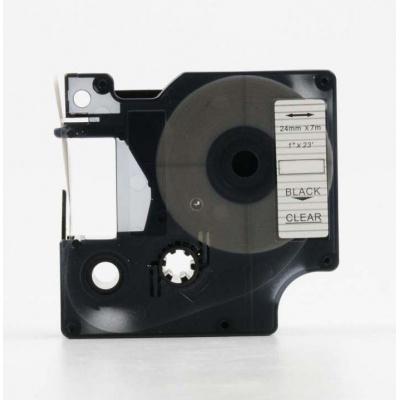 Dymo 53710, S0720920, 24mm x 7m, fekete nyomtatás / átlátszó alapon, kompatibilis szalag