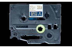 Brother TZ-RN34 / TZE-RN34, 12mm x 4m, arany nyomtatás / kék alapon, eredeti szalag