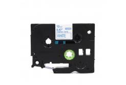 Brother TZe-FA3, 12mm x 3m, kék nyomtatás / fehér alapon, vasalható, kompatibilis szalag