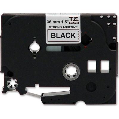 Brother TZ-S261/TZe-S261, 36mm x 8m, erősen ragadó, fekete nyomtatás / fehér alapon, kompatibilis szalag
