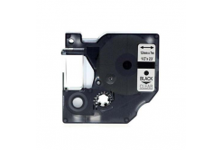 Dymo 45010, S0720500, 12mm x 7m fekete nyomtatás / átlátszó alapon, kompatibilis szalag