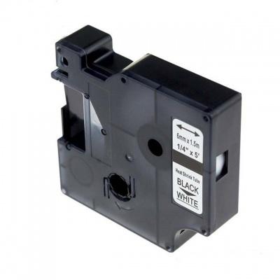 Dymo 18051, S0718260 6mm x 1, 5m fekete nyomtatás / fehér alapon, kompatibilis szalag