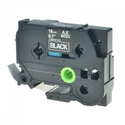 Brother TZ-345 / TZe-345, 18mm x 8m, fehér nyomtatás / fekete alapon, kompatibilis szalag