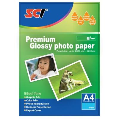 SCI GPP-200 Glossy Inkjet Photo Paper, 200g, A4, 20 lap, fényes fotópapír