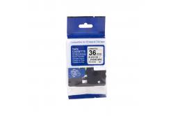 Brother TZ-S161/TZe-S161, 36mm x 8m, erősen ragadó, fekete nyomtatás / átlátszó alapon, kompatibilis szalag