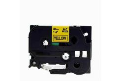 Brother TZe-V661, 36mm x 5,5m, fekete nyomtatás / sárga alapon, vinyl, kompatibilis szalag