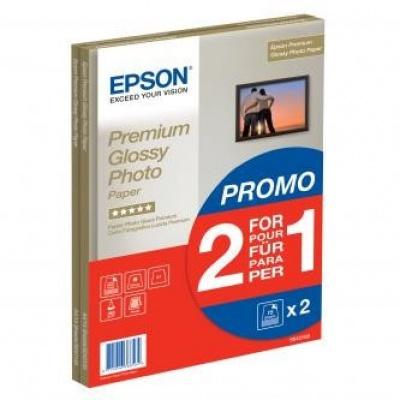 Epson S042169 Premium Glossy Photo Paper, fotópapírok, fényes, fehér, A4, 255 g/m2, 30 db