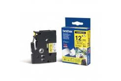 Brother TZ-FX631 / TZe-FX631, 12mm x 8m, fekete nyomtatás / sárga alapon, eredeti szalag