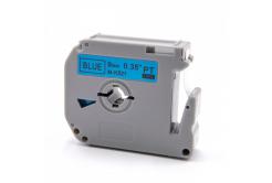 Brother MK-521, 9mm x 8m, fekete nyomtatás / kék alapon, kompatibilis szalag