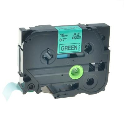 Brother TZe-V741, 18mm x 5,5m, fekete nyomtatás / zöld alapon, vinyl, kompatibilis szalag