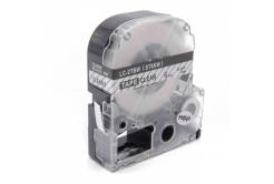 Epson LC-ST6KW, 6mm x 8m, fekete nyomtatás / átlátszó alapon, utángyártott szalag